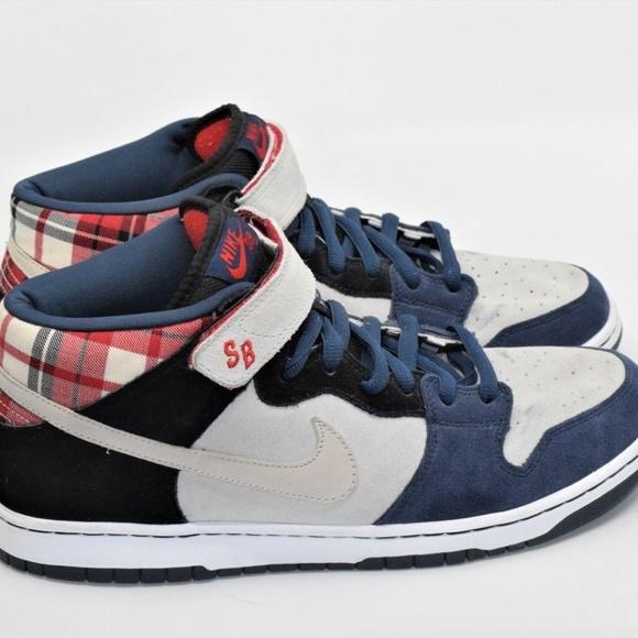 sale retailer f3f3f 74967 Nike Dunk Mid Premium SB Goofy Boy Plaid Skate